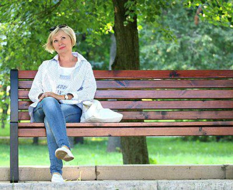 Woman, Bench, Stand By, Blonde, Dream