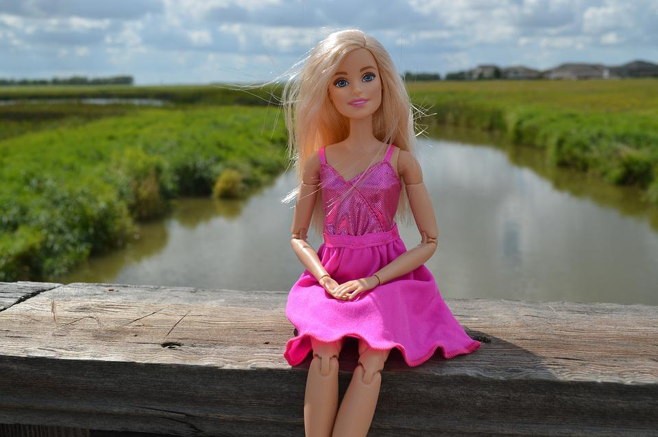 Cute Popsicle Wallpaper Free Photo Barbie Doll Blonde Toy Sitting Free