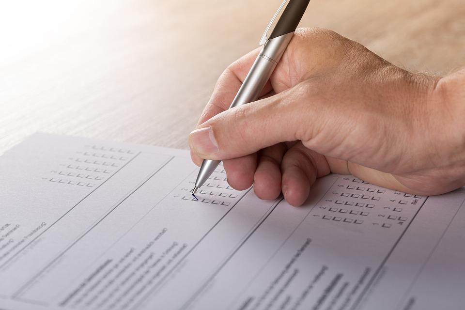 調査, 世論調査, 投票, 埋める, 手, 書きます, ペン, 紙, レポート, フィラー