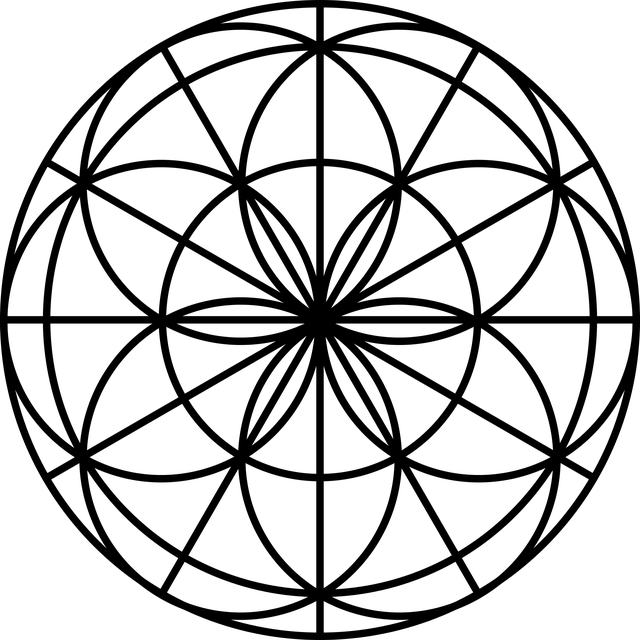 Free vector graphic: Flower Of Life, Sacred Geometry
