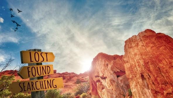 失われました, 見つかりました, 失われたと発見, 検索, 道標, 記号, サイン, 方向, エリア, 公園