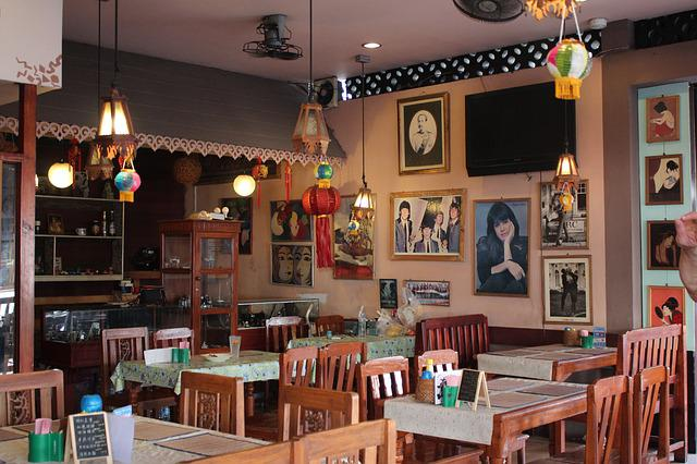 chairs for kitchen table lantern lighting free photo: restaurant, inside, cafe, nostalgic - ...