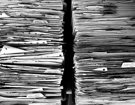 Files, Paper, Office, Paperwork, Stack