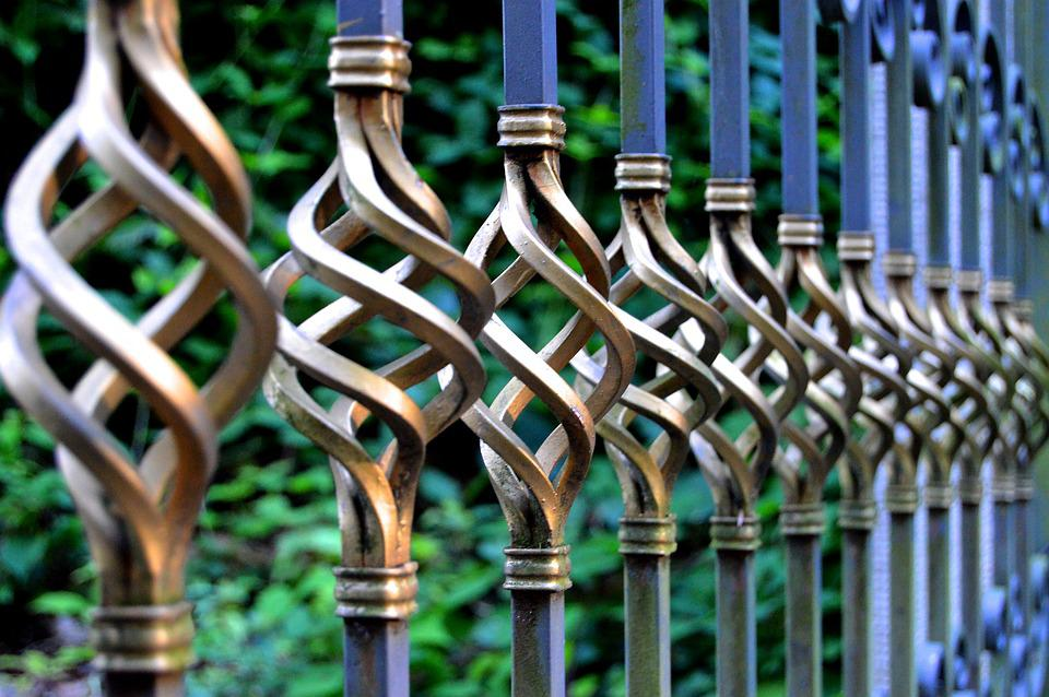 Iron Gate, Wrought Iron, Metal Gate, Cemetery, Goal