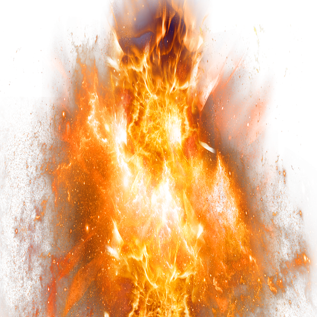 Flaming Sword Transparent Background Yellow