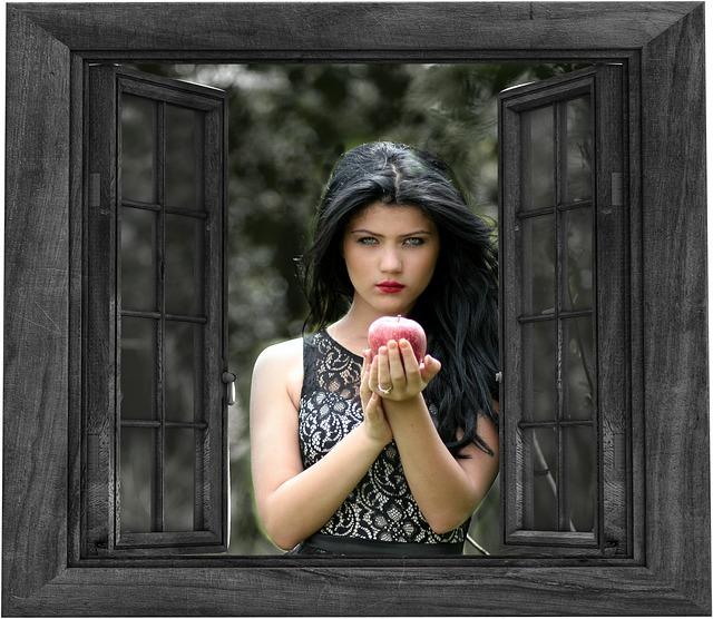 Free illustration Girl Window Outside Apple  Free Image on Pixabay  1666662
