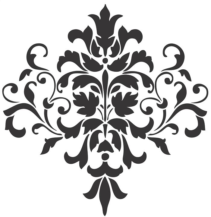 Damask Mehndi Tattoo · Free vector graphic on Pixabay
