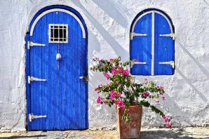 Bodrum, House, The Door, Blue