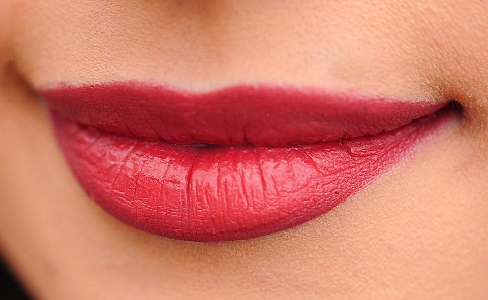 唇, 赤, 女性, 女の子, セクシーです, 化粧, 赤い唇, グラマー, 皮膚, メイクアップ, 色