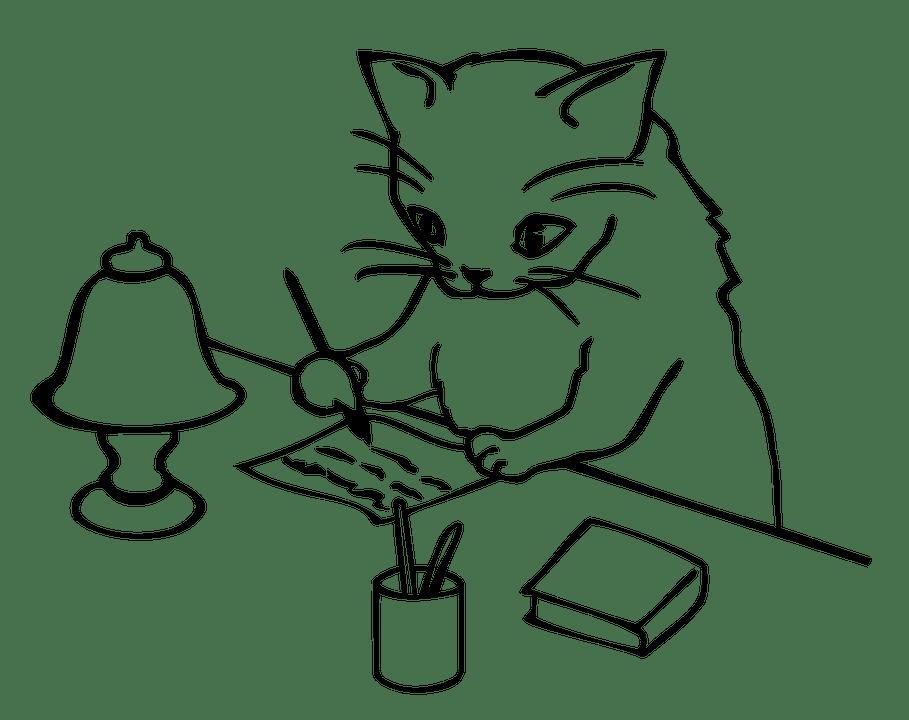 Illustration gratuite: Lettre, Étude, Écriture, Cat