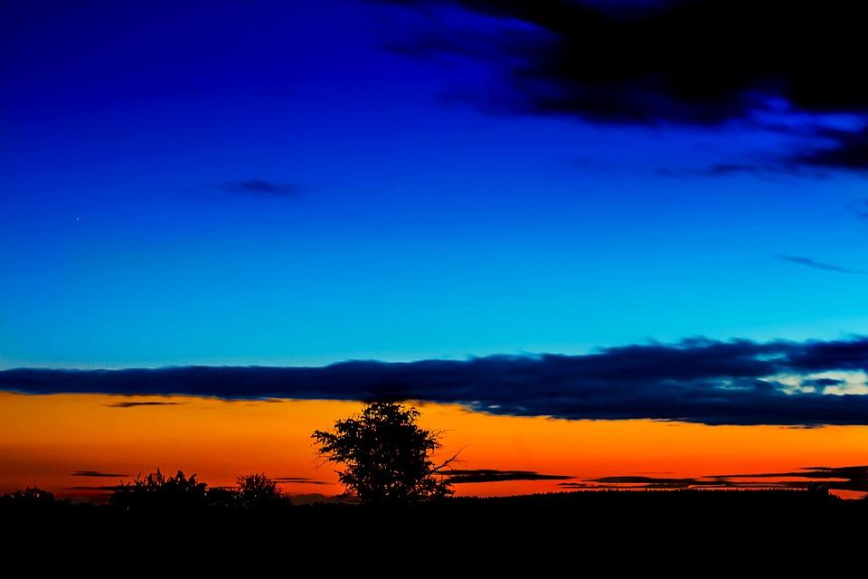 Sad Girl Background Wallpaper Sunset Blue Hour Sky 183 Free Photo On Pixabay