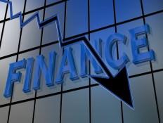 Finanzkrise, Börse, Deutsche, Bank, Tendenz, Symbol