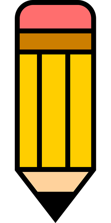 icon pencil write free vector