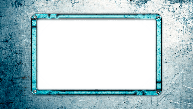 Photo Frame Blue Metal  Free image on Pixabay