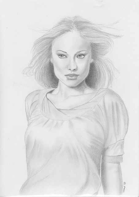 Free Illustration Black And White Drawing Woman Free