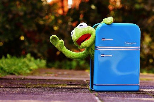 カーミット, カエル, 冷蔵庫, おかしい, レトロ, 緑, おもちゃ