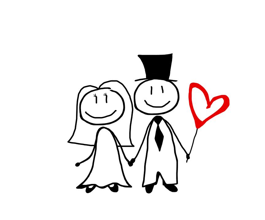 Brautpaar Comic Bilder