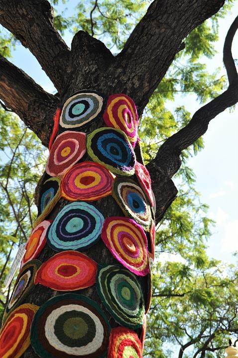 Kostenloses Foto Upcycling Baum Hkeln Kunst
