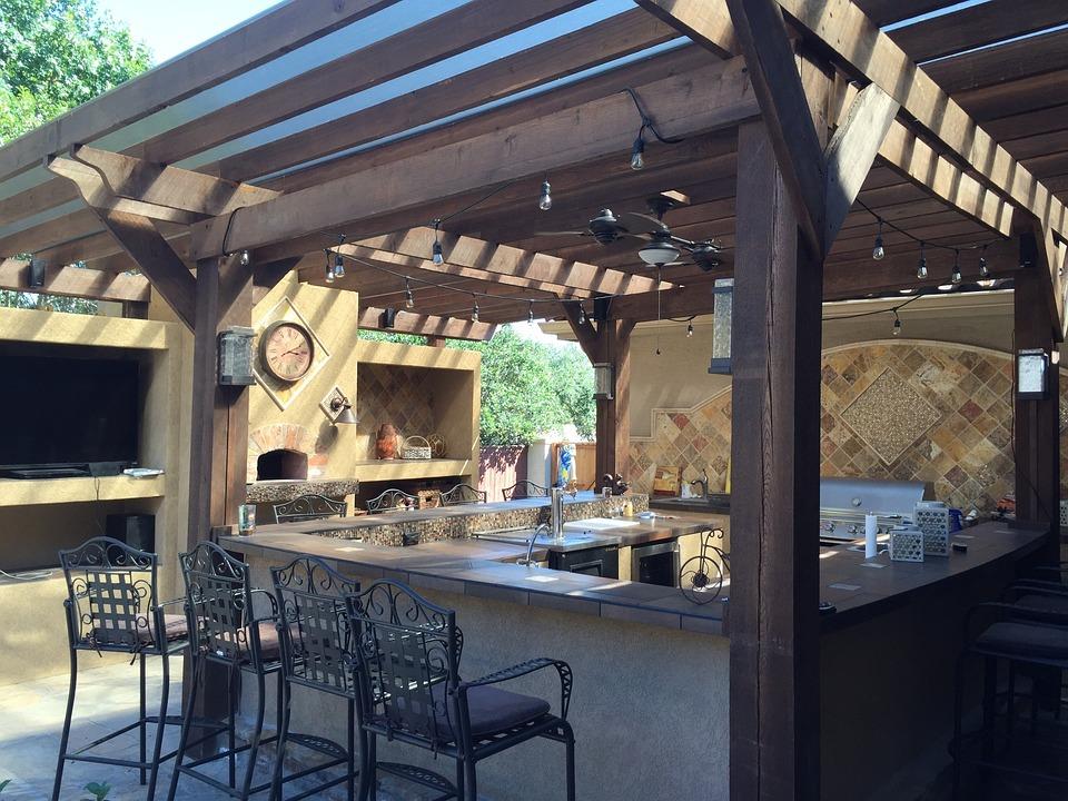 outdoors kitchen designer online 天井封面户外厨房瓦 pixabay上的免费照片 天井封面 户外厨房 瓦 铜 天井 石 设计 户外 厨房 外墙 烤架 室外用餐 壁炉
