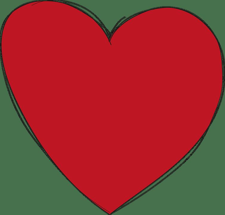 Cuore Rosso Amore  Grafica vettoriale gratuita su Pixabay