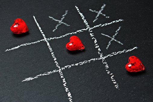 Tic Tac Toe, Love, Heart, Play