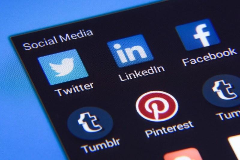社会的なメディア, Facebook, Twitter, Instagramの, アイコン, マーケティング