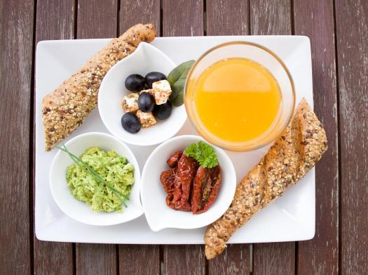 Prima Colazione, Succo D'Arancia, Pane, Grano Intero