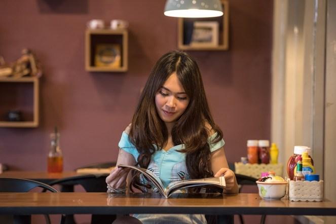 Ásia, Pessoas, Sedutor, Livro, Café da manhã, Marrom
