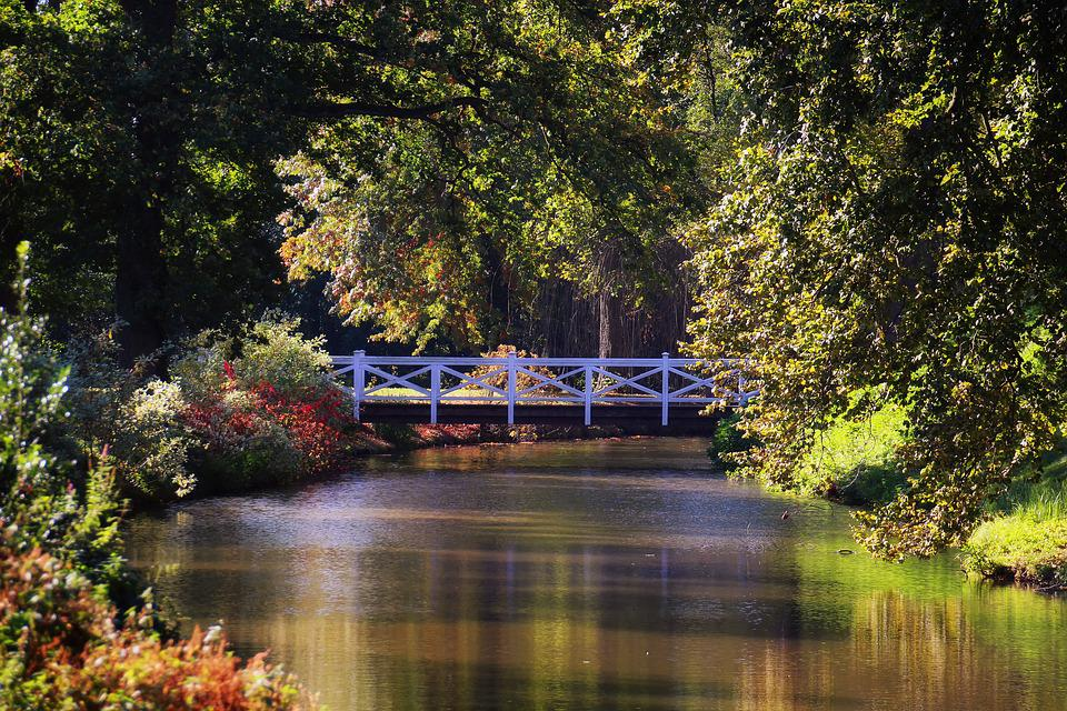 Fall With Water Wallpaper Hd Bridge River Landscape 183 Free Photo On Pixabay