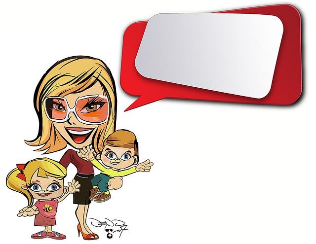 Tecknad Barn Kvinna Familj  Gratis bilder p Pixabay