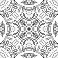 Free illustration: Mandala, Line Art, Black And White ...