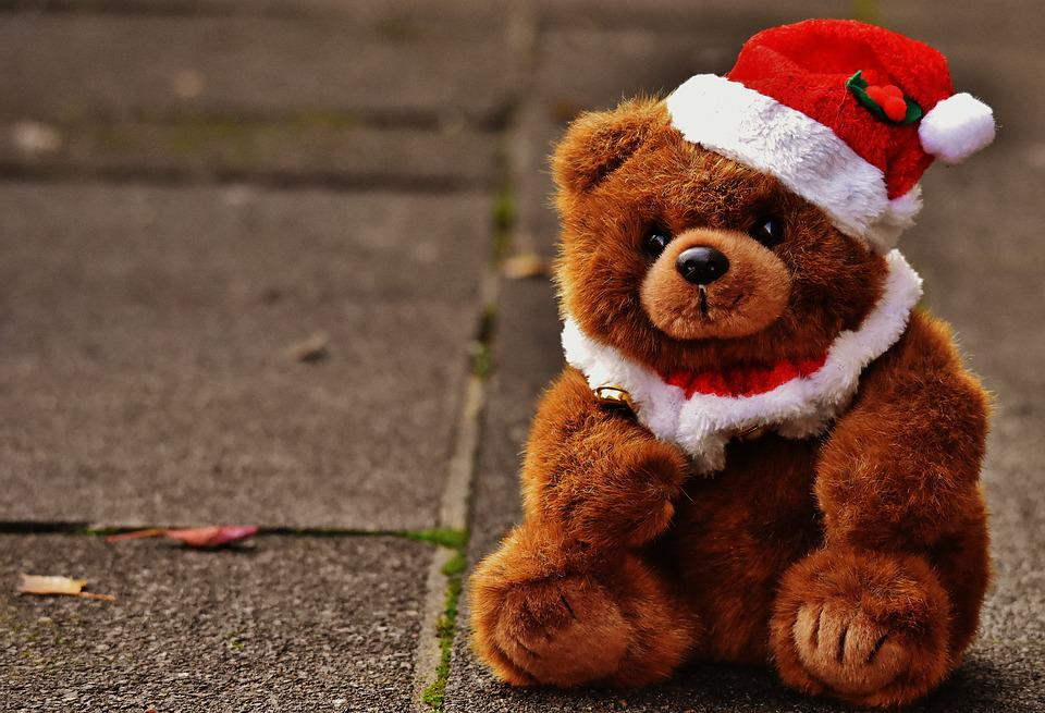 Free Photo Christmas Greeting Card Teddy Free Image