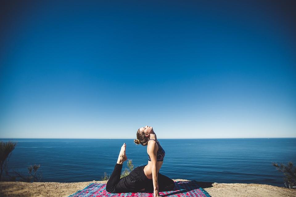 Woman, Yoga, Coast, Exercise, Fitness, Lifestyle, Ocean