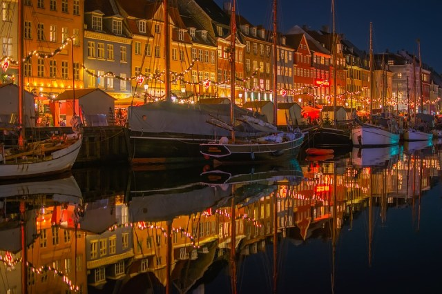 Nyhavn, Dinamarca, Ciudad, Urbana, Edificios, Tiendas