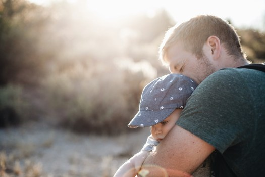 Bambino, Carino, Papà, Padre, Amore, Uomo, Natura