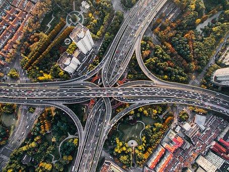 アーキテクチャ, 建物, 車, 市, 都市の景観, 高速道路