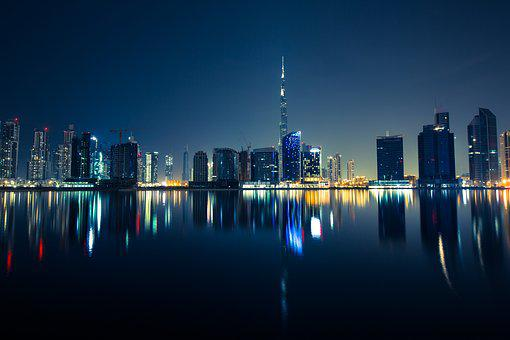 Edificios, Dubai, Metropole, Ciudad
