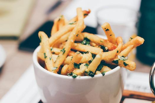 Ciotola, Cibo, Patatine Fritte, Macro, Patate Fritte