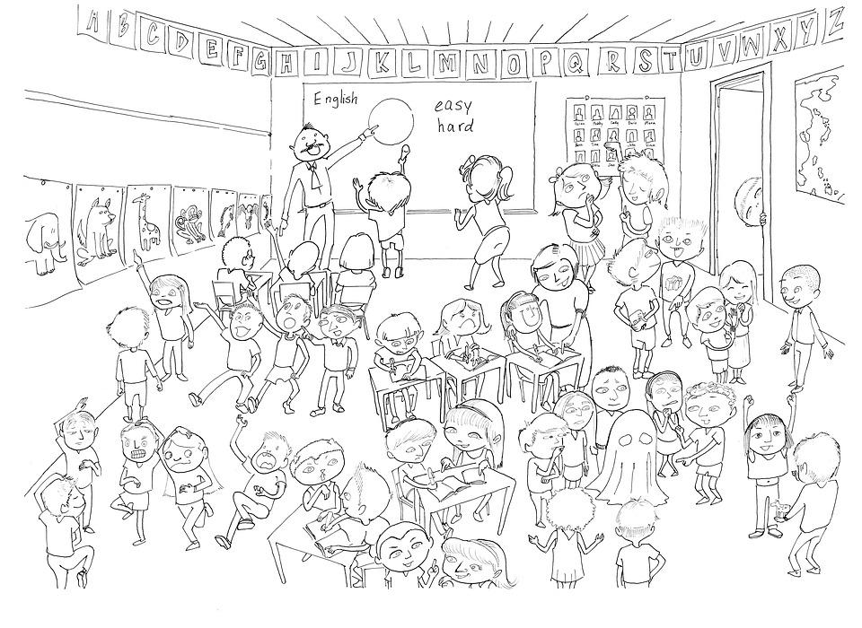 Classroom Activity Drawing · Free image on Pixabay