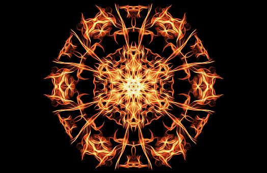 ごぼう, 火, 魔法, シンボル, 炎, 神秘的な, アイコンを, 地獄, 円