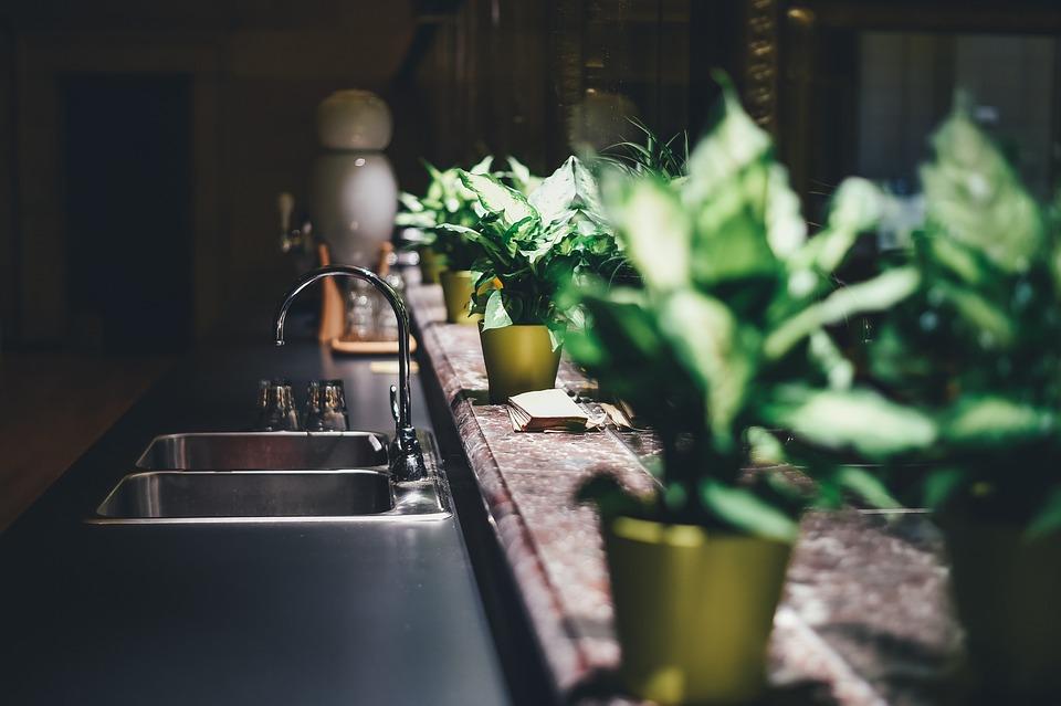 Kitchen, Tap, Sink, Blur, Faucet, Furniture, Home