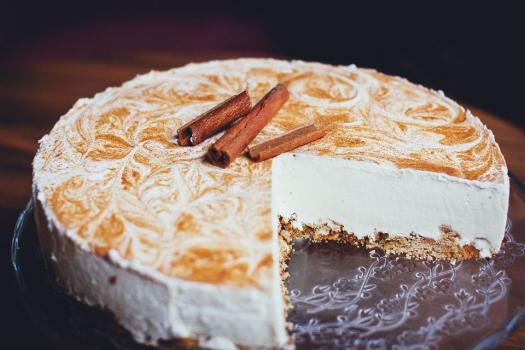Sfocatura, Torta, Cheesecake, Cannella, Close Up