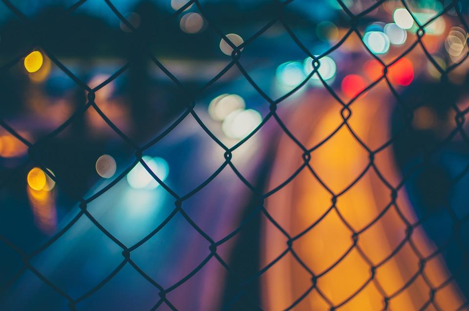 blurred bokeh fence free