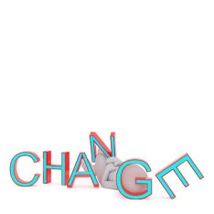 "An image of the word ""change"", in regards to this article about how people change."