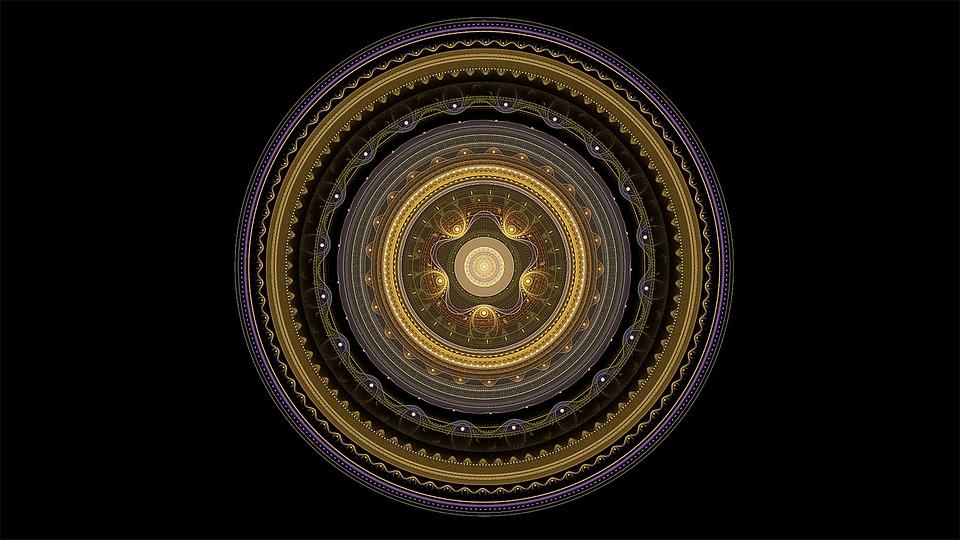 Free Illustration Fractal Mandala Gold Ornament Free