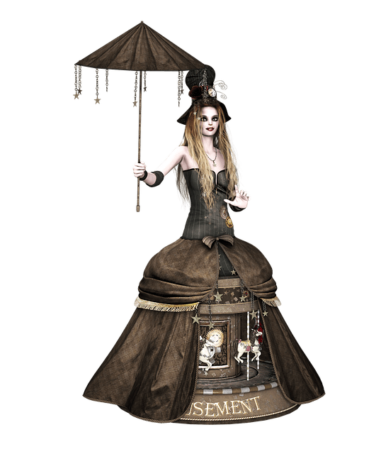 Anime Girl In The Rain Wallpaper Girl Dress Steampunk 183 Free Image On Pixabay