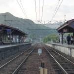 Estación de tren en un lugar remoto, Japón