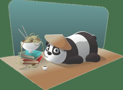 Panda, Character, Chinese, Noodle