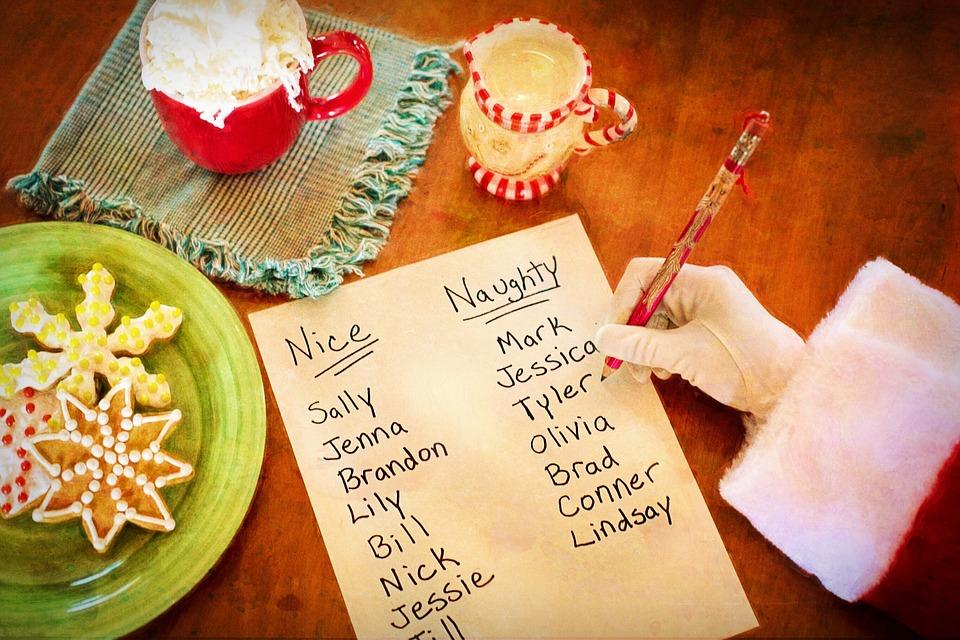 サンタさんのリスト, いたずらやすてきな, サンタさんの腕, クリスマス, サンタ, 休日, 陽気な, 一覧
