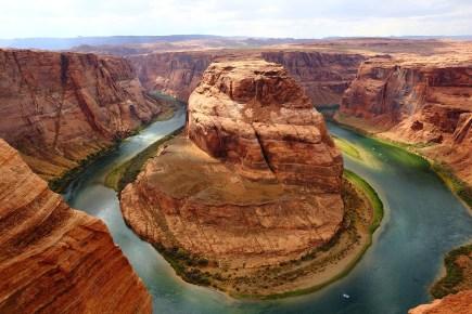ホースシューベンド, グランドキャニオン, コロラド川, キャニオン, アメリカ, 自然, 風景, 曲線